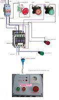 Esquemas eléctricos: paro de emergencia de un motor monofasico
