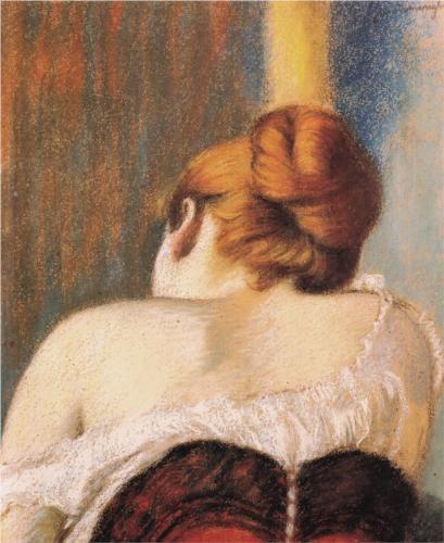 Woman in corset - Federico Zandomeneghi