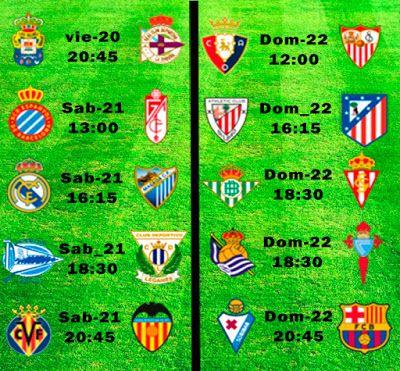 La Liga Full: Horario Jornada 19
