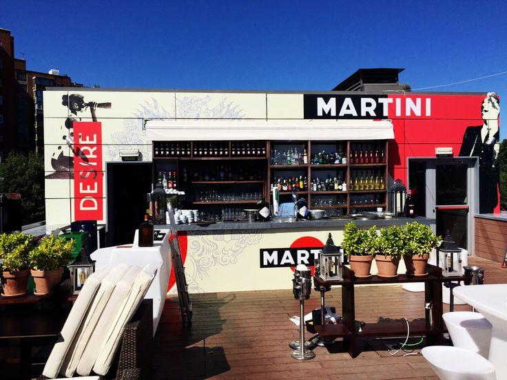 Campaña Martini Desire en la terraza de Madrid Rio