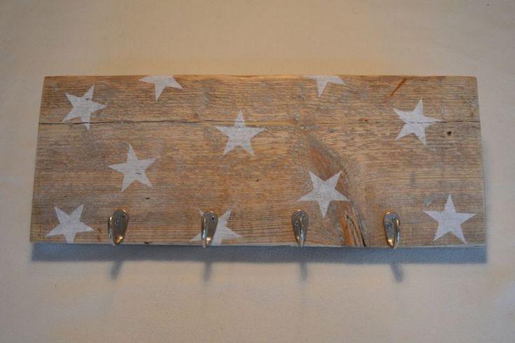 kapstok steigerhout sterren