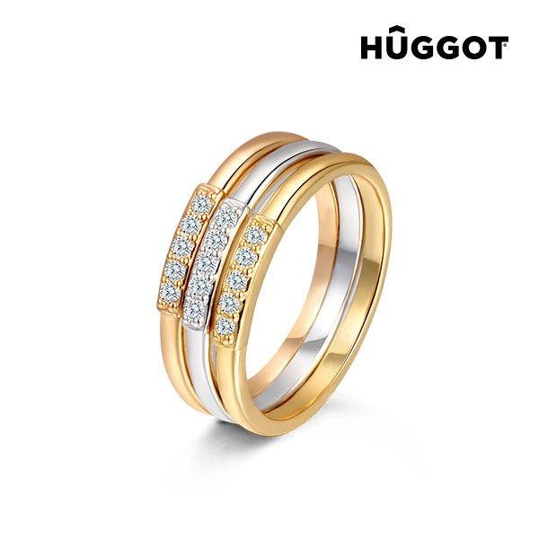 #Dreifachring Individual vergoldet #18K #Hûggot  #Ring #Gold #Geschenk für #Frauen #Mode #Accessoires