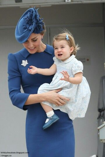 Catherine Duchess of Cambridge and Princess Charlotte on arrival in Canada. September 24 2016