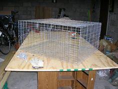 wire rabbit cage tutorial