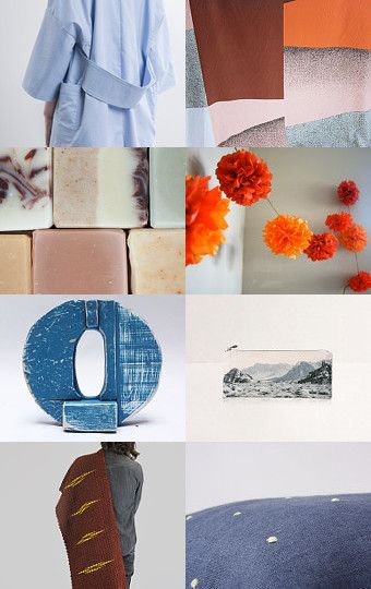 Blue Orange mix by twomoons on Etsy--Pinned with TreasuryPin.com
