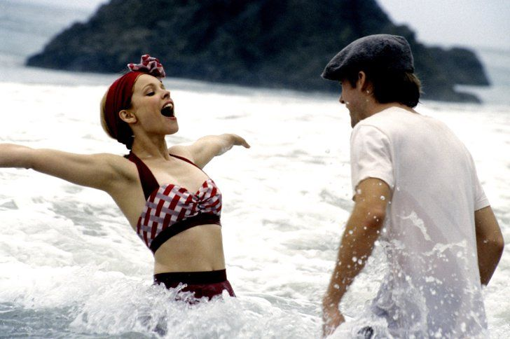 Pin for Later: The Ultimate Bikini Movie Gallery Rachel McAdams, The Notebook I'm jealous of Allie's adorable swimwear, but I'm even more jealous of her wave-frolicking partner.