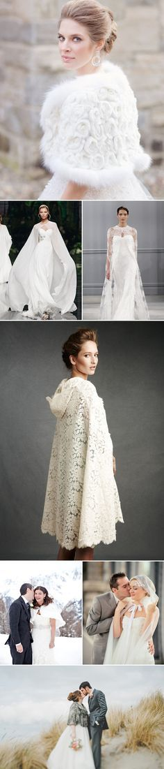 29 Timeless Chic Bridal Cover Ups - Cape