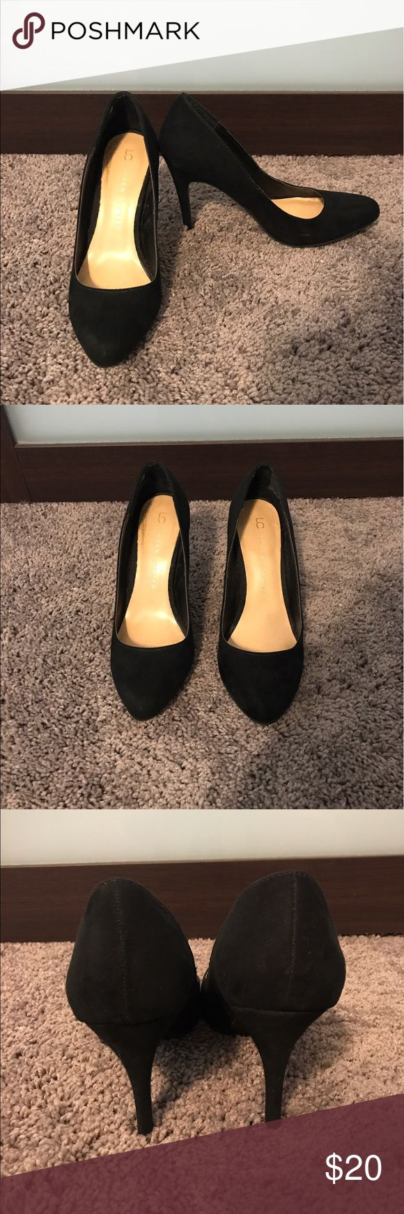 Black Lauren Conrad pumps Black Lauren Conrad pumps. Minimally worn. Some minor wear and tear as shown in picture. Everything in my closet must go. Make me an offer. LC Lauren Conrad Shoes Heels