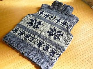 #29 Cowichan Sweater pattern by Nihon Vogue (日本ヴォーグ社) from Handknitting Text - advanced course(手あみテキスト アドバンスコース)