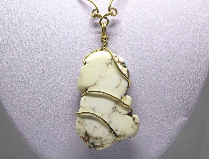 #naszyjnik #handmadejewelry  z howlitem ręcznie robiony łańcuch - #betulek
