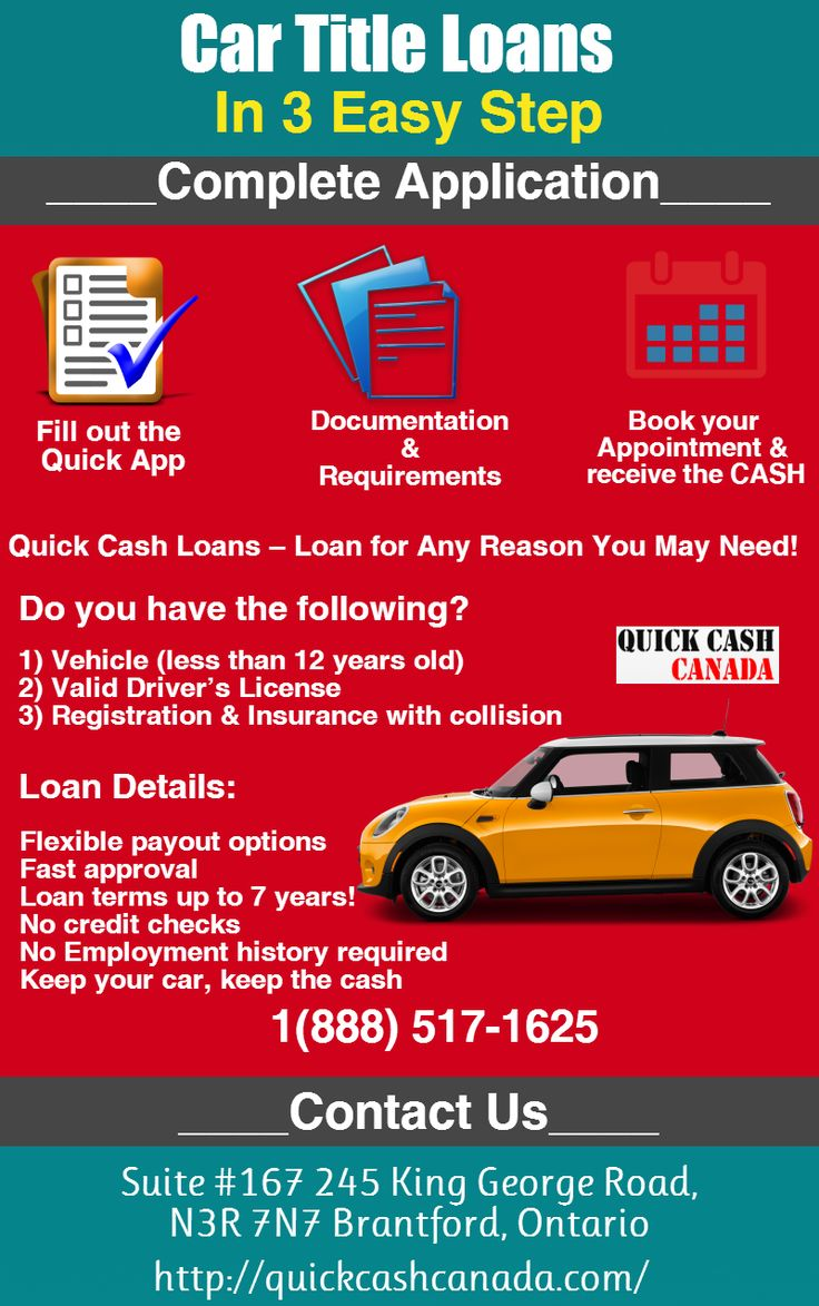 Quick Cash Canada offering you Car title loans North York
