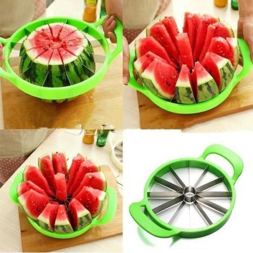 1-PushStainless SteelSlicer for: Watermelon, Cantaloupe, Melons, Cake, Vegetablesand More![Order 3or more and get FREE SHIPPING] Made of high quality Stain