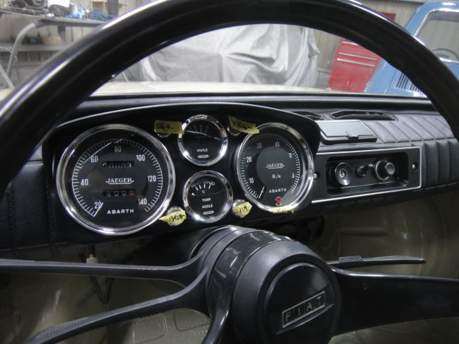 JAEGER quad meter complete installed to FIAT 126A