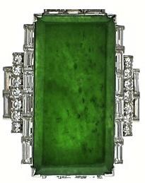 Art Deco Diamond and Jadeite Ring