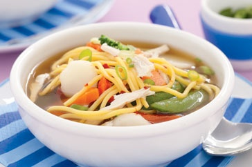 This spicy chicken noodle soup is a quick and easy addition to the winter dinner menu.