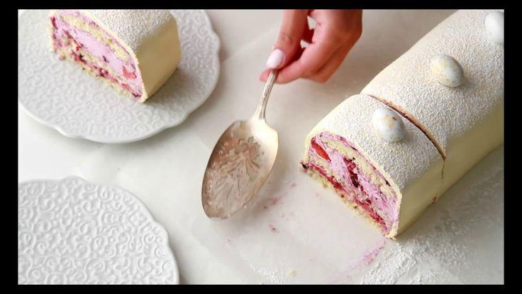 NORWEGIAN  CAKE, WITH LEMON & BLUEBERRY FILLING - YouTube