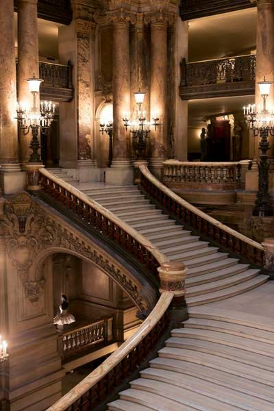 Paris Opera House French Photography Brown Gold by Raceytay, $15.00