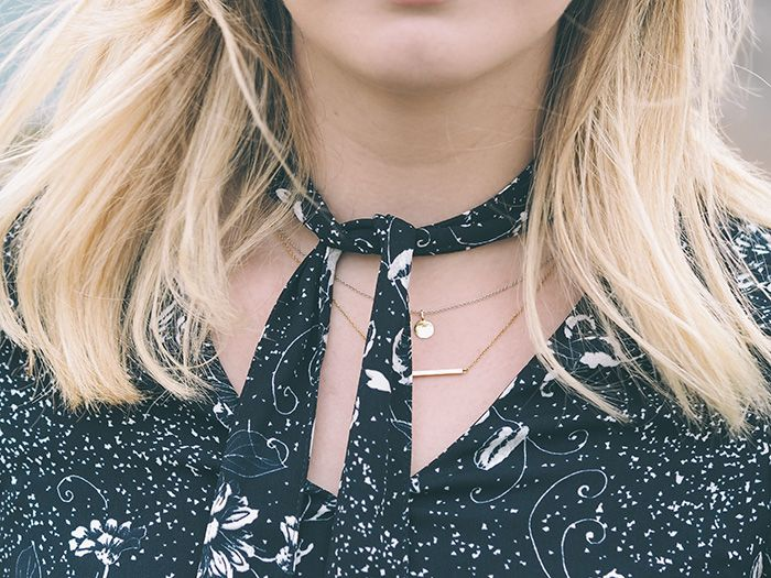 Dainty Gold Necklaces | LV In Love With