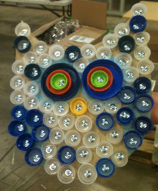143 best plastic bottle cap crafts images on pinterest for Can beer bottle caps be recycled