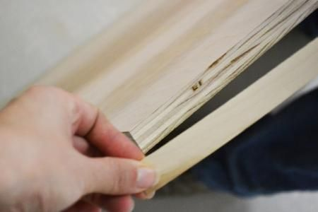 How To:  Finishing Plywood Edges with Edge Banding from Ana White