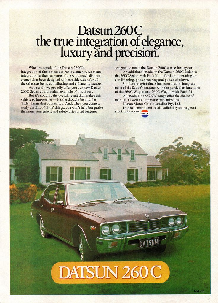 https://flic.kr/p/WLJNwS   1977 Datsun 260C Sedan Nissan Aussie Original Magazine Advertisement
