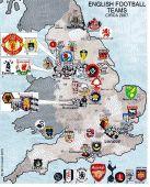 English Football teams map