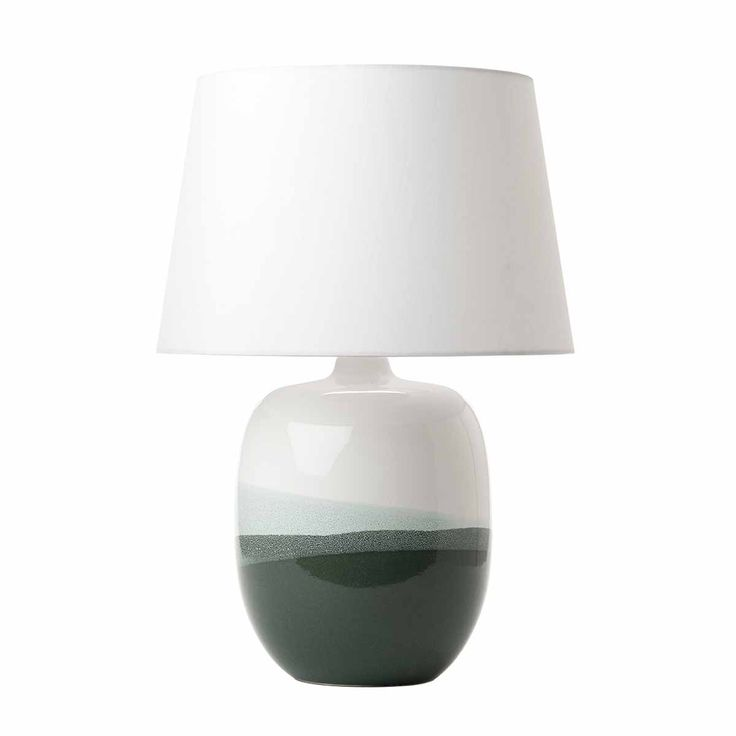 Lautaro Table Lamp Ceramic Green Base Only The LAUTARO Is A Modern With Dipped Glaze Over White Handmade In Portugal And Produced