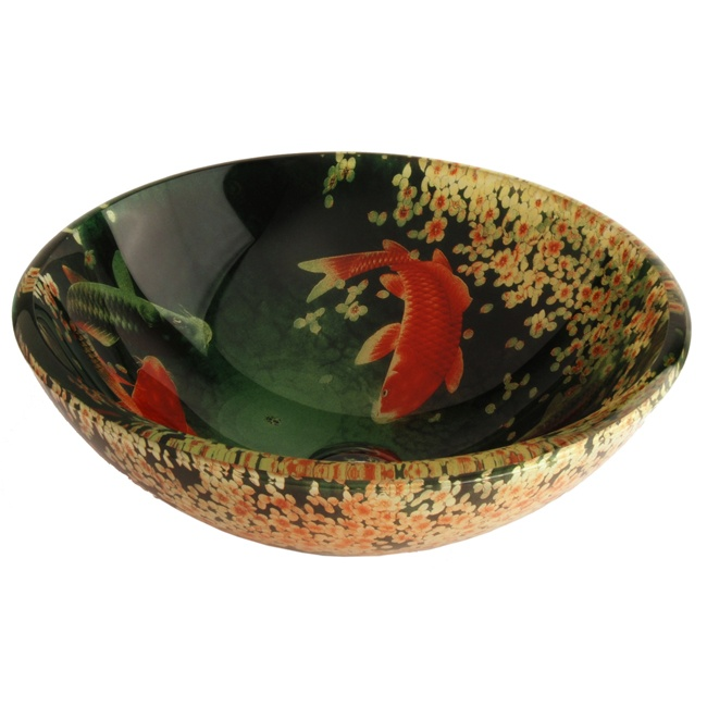 Fontaine Koi Amp Lily Pond Glass Vessel Sink Koi Fish In