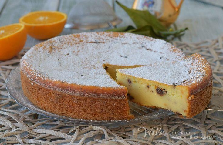 TORTA RICOTTA ARANCIA E CIOCCOLATO senza farina e burro, senza olio, ricetta dolce facile, leggera, profumata e golosissima