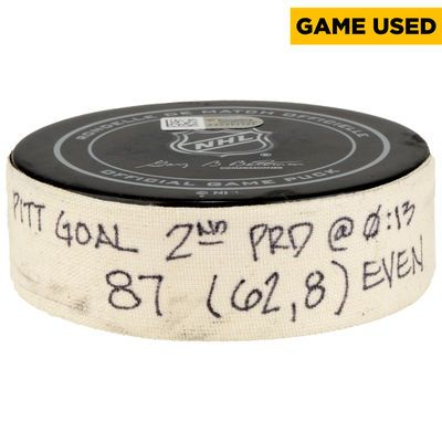 NNL-Pittsburgh Penguins Sidney Crosby Fanatics Authentic Game-Used Goal Puck from November 5, 2016 vs. San Jose Sharks - Second Goal of Two Goals Scored $1,749.99