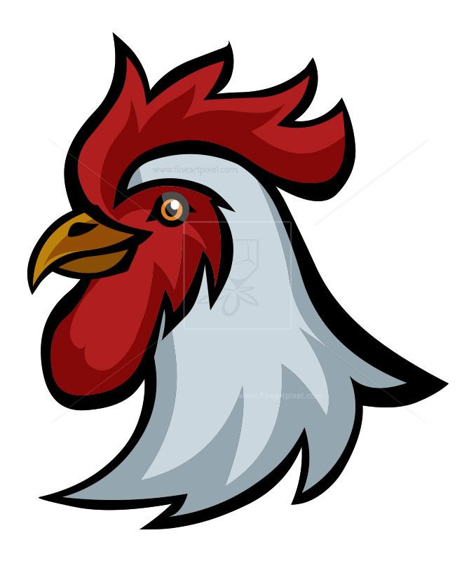 Rooster Head Icon Free Vectors Illustrations Graphics Clipart Png Downloads Fineartpixel Com Rooster Vector Free Clip Art