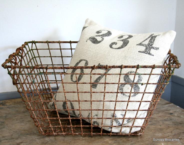 Vintage Wire Oyster Basket