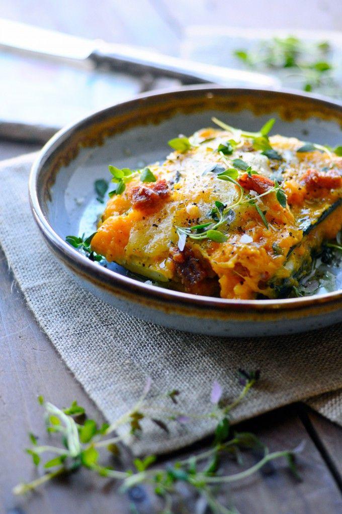 Sund lasagne opskrift med squash og chorizo