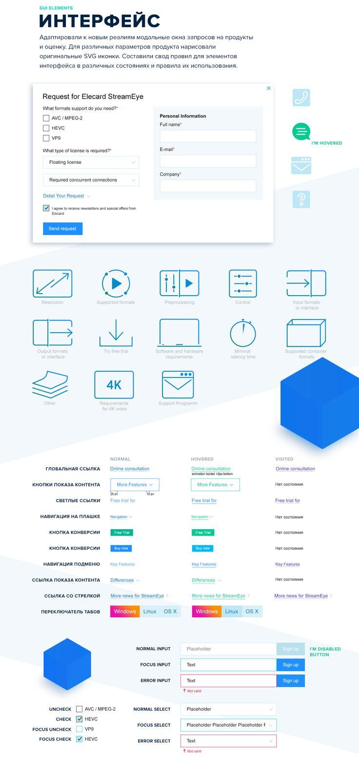 Сайт продукта Elecard StreamEye
