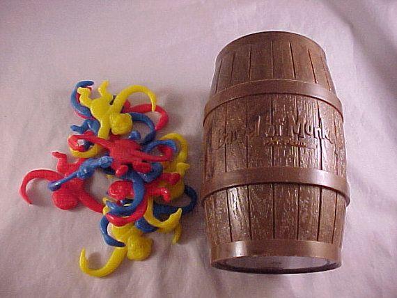 1966 Lakeside Toys Barrel Of Monkeys Game