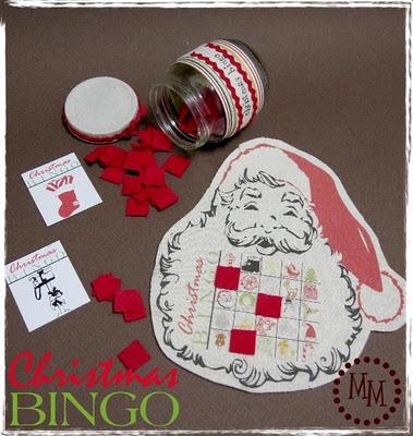 Vintage Christmas Bingo Printable
