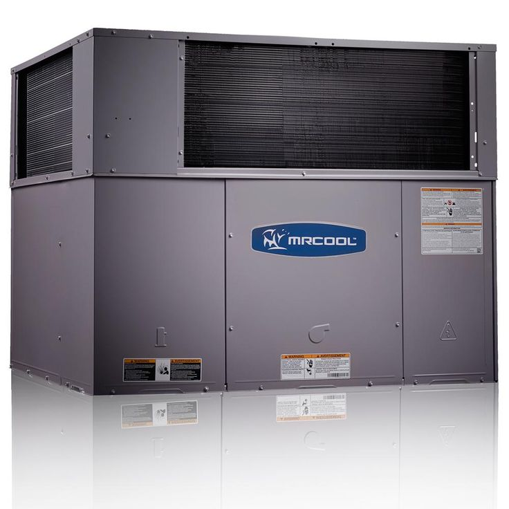 2.5 Ton 14 Seer R-410A 60,000 BTU Heat Horizontal or Down Flow Package A/C and Gas, Gray