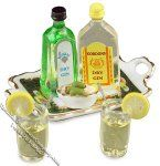 Dollhouse Scale Model Gin & Tonic Set