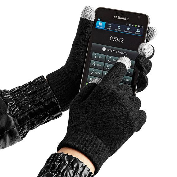 These Touchscreen Smart Gloves will keep your hands warm this winter whilst using your phone.  A must for all and a great gift idea too !  Black Glove with Grey Smart K...