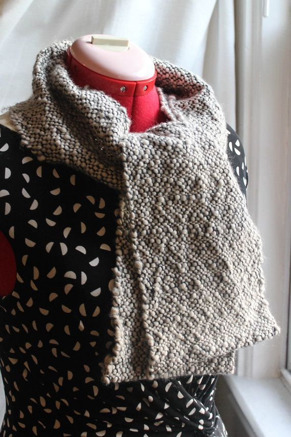 River Stones: hand-woven scarf with a unique texture