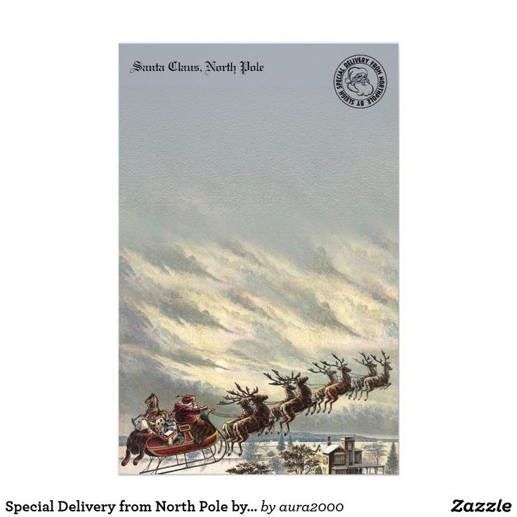 Special Delivery from North Pole by Sleigh Stationery