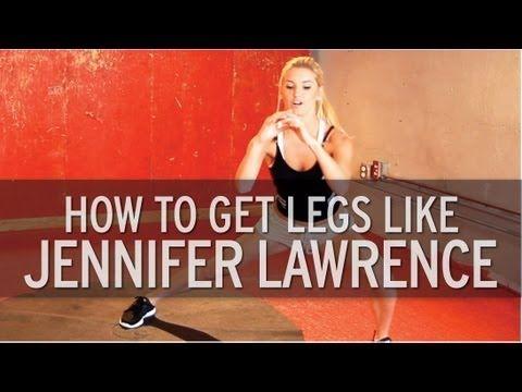 "9:00 Leg Workout video - ""Legs like Jennifer Lawrence"" - bodyweight + dumbbells"