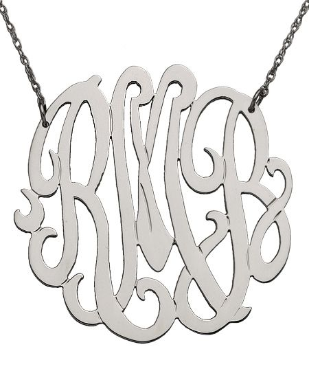 West Avenue Jewelry Large Monogram Necklace_would love one in gold M.B.A.Fashion, West Avenue, Monograms Necklaces, Avenue Jewelry, Style, Large Monograms, Jewelry Large, Initials Necklaces, Monogram Necklace