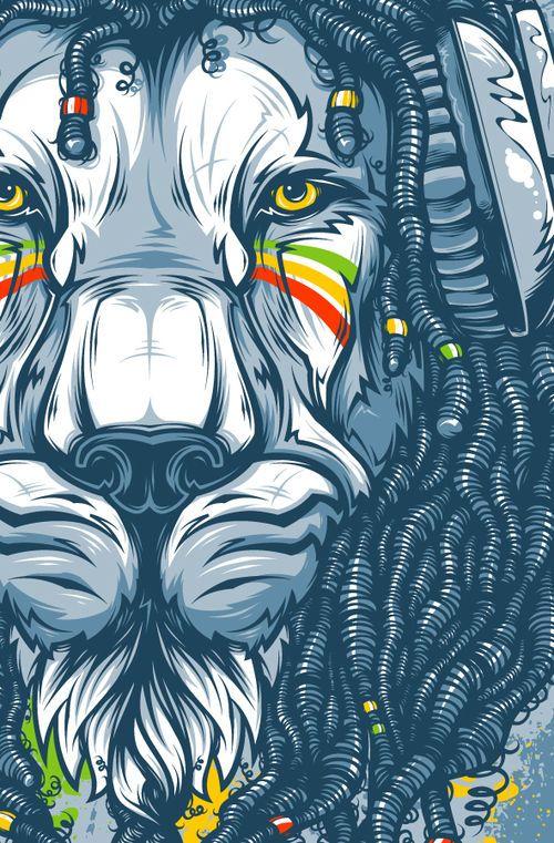 Rastafarian lion #blessed #jah