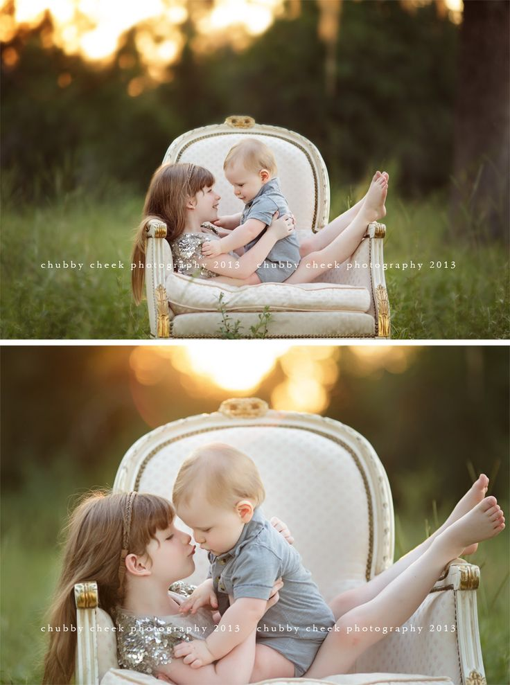 I love this session so much! Great poses for older sib & baby...