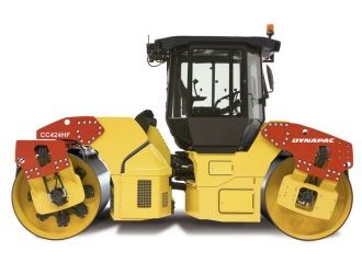 This Dynapac CC424HF Asphalt Roller Construction Model is Yellow and features working rollers. It is made by Motorart and is 1:50 scale (approx. 11cm / 4.3in long).  ...