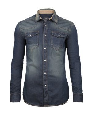 HEREN DENIM OVERHEMD - WE Fashion