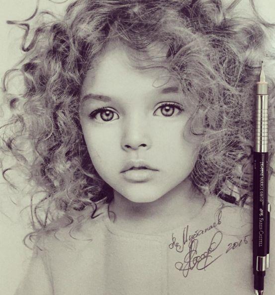 die Augen dieses wunderschön gezeichneten Mädchens ziehen mich in ihren Bann