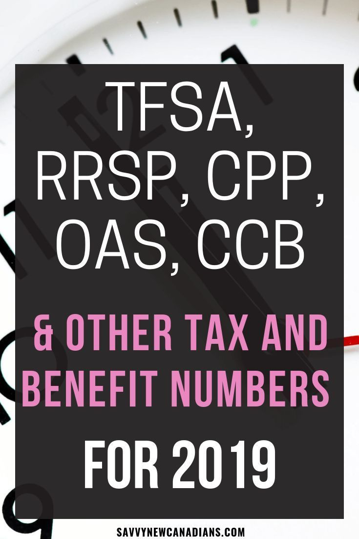 Rrsp Tfsa Oas Cpp Other Tax And Benefit Numbers Updated For 2020 Personal Finance Budgeting Finances Money Management