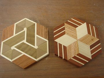 箱根 本間木工所 寄木細工体験教室 コースター
